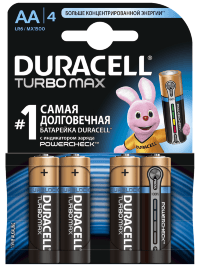 Батарейка TURBO LR06/AA упак. 4 шт.  Duracell