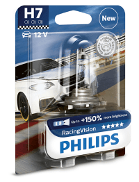 Автолампа H7 12V 55W (PX26d) Racing Vision +150% 12972  RV B1 PHILIPS