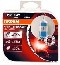 Автолампа  H7 12V 55W (PX26d) NIGHT BREAKER UNLIMITED + 110%  64210NBU_DuoBox  OSRAM
