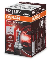Автолампа  H7 12V 55W (PX26d) NIGHT BREAKER UNLIMITED + 110% 64210NBU  OSRAM
