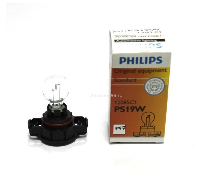 Автолампа 12V PS19W  (PG20/1)  12085 C1 PHILIPS