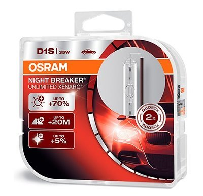 Ксеноновая лампа D1S Ксенарк Night Breaker Unlimited +70% 35W (2шт.) 66140XNB_DuoBox Osram