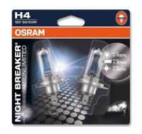 Автолампа  H4  12V 60/55W (P43t-38) NIGHT BREAKER UNLIMITED+110% 64193NBU-02B OSRAM