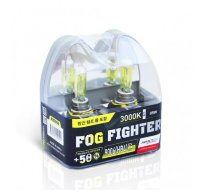 Автолампы HB4 9006 12V 55W (85W) 3000K FOG FIGHTER (2 шт) AB3006 AVANTECH
