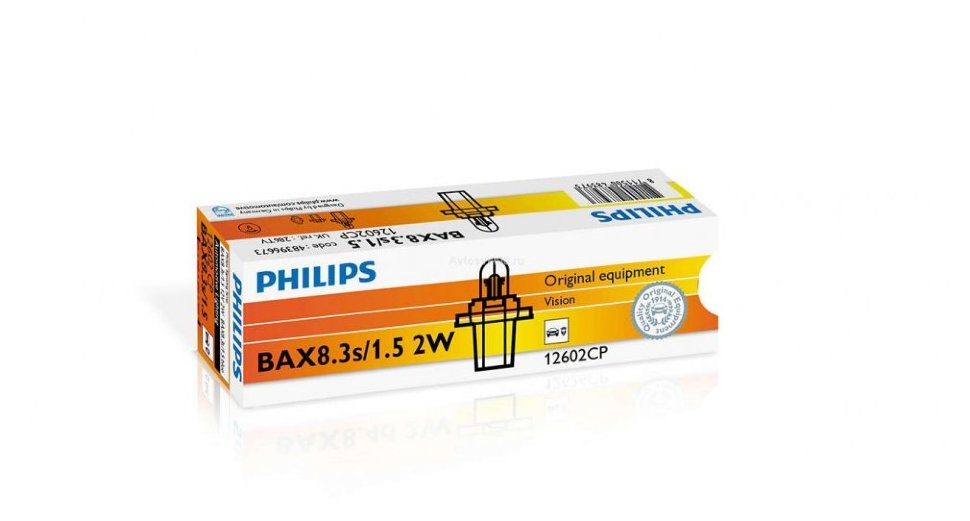 Автолампа  12V 2W (BAX8.3s/1.5)  blue 12602 CP PHILIPS