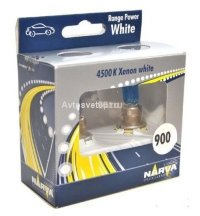 Автолампа HB3 (65) RANGE POWER WHITE (2шт) 12V NARVA 48625 RPW S2