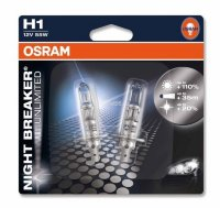 Автолампа  H1 12V 55W (P14.5s) NIGHT BREAKER UNLIMITED +110% 64150NBU-02B ресурс +50% OSRAM
