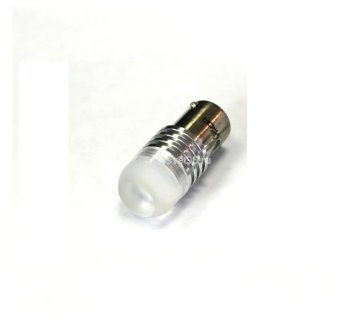 Светодиод 12V S25 (1SMD) BAY15d size 7080 HIGH POWER OPTICAL LENS WHITE (белый) 902698 TM NORD YADA